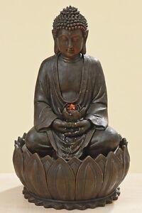 Buddha brunnen led figur dekoration beleuchtung garten neu ebay - Buddha figur garten ...