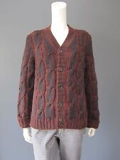 KENZO 85 % wool cardigan NEW rust & blue, can be worn by women as well