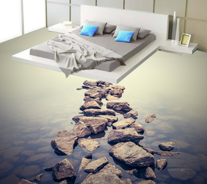 3D Stone Sea 572 Floor WallPaper Murals Wall Print 5D AJ WALLPAPER AU Lemon