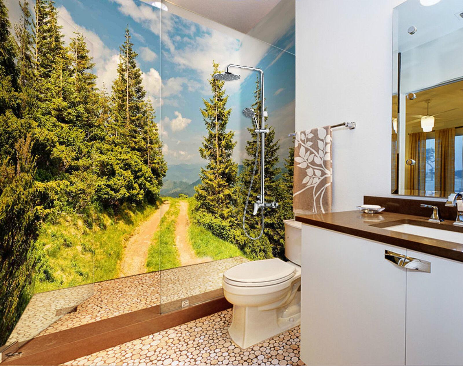 3D Roadside Trees 139 WallPaper Bathroom Print Decal Wall Deco AJ WALLPAPER CA