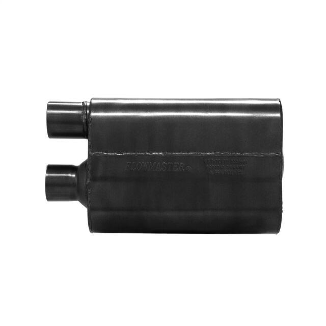 "Flowmaster 842580 80 Series Crossflow Muffler 2.5/"" Offset Inlet//Outlet Same Side"