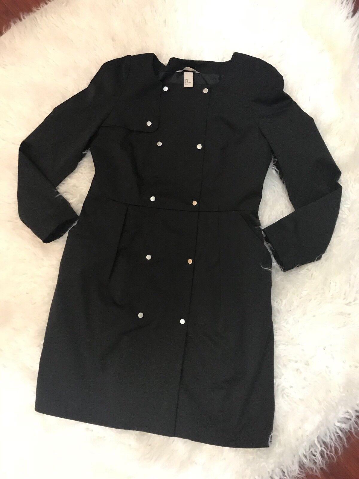 H&M Women's Pea Coat Style Dress Size 8
