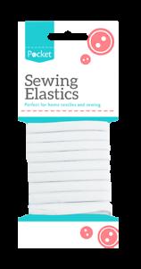 Sewing Elastics Multi Pack White Dress Making Elastic