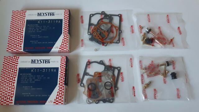 TOYOTA 2T-B 2TB Carburetor Overhaul Gasket Kit, TE27, TA22, TE71 TA40 TA60