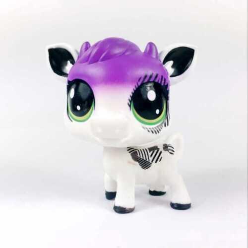 Littlest Pet Shop PLUMELLA COWBELLE CALLA Cow Calf Series 1 collect figure toy