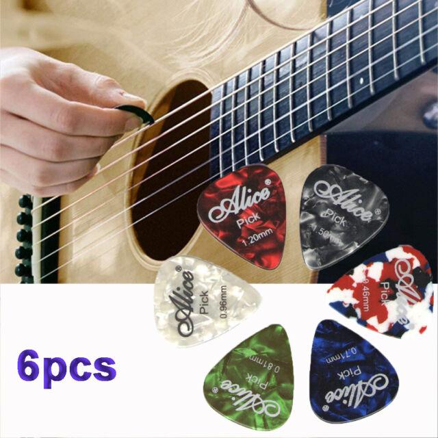 6pcs Alice Celluloid Folk Mediator Acoustic Plectrums Guitar Picks Shrapnel c I