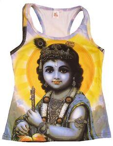 KRISHNA-Dieu-Hindou-Avatar-Tattoo-Karma-Goa-DJ-Plage-Fete-VIP-Debardeur-T-shirt