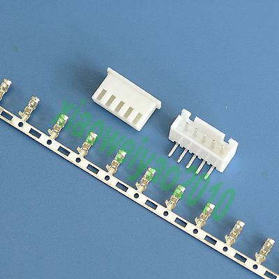 100sets Right Angle XH2.54 5P 5Pin Connector Kits Terminal + Housing for 2.54mm