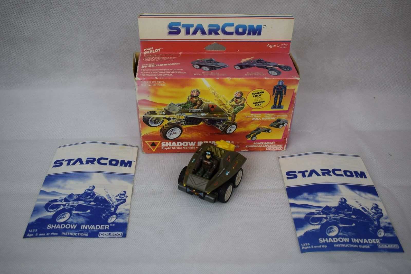 Vintage 1980's Starcom Vehicles, SHADOW INVADER , Invasion, BOXED,