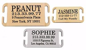 Dog-Pet-ID-Tag-Personalized-Slide-On-Slider-Name-Custom-Engraving-Brass-Steel