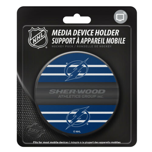 Tampa Bay Lightning Hockey Puck Media Device Holder Home//Office Phone Tablet