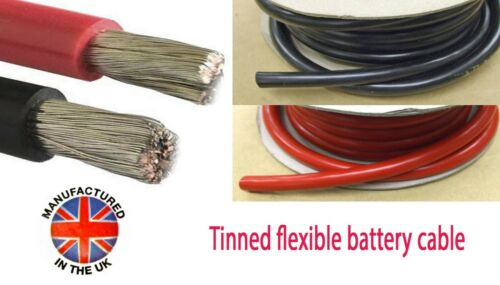 MADE IN THE UK  BAT240xxxTIN OCEANFLEX TINNED Battery Cable 35mm²//240amp 2AWG