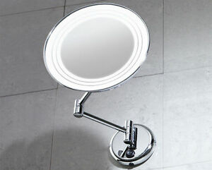 Specchio ingranditore gerard da parete con luce gedy bagno cod 2116 ebay - Specchio ingranditore bagno ...