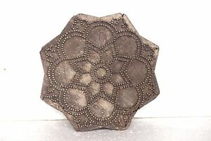 Old-Vintage-Wooden-Copper-Wire-Antique-Hand-Carved-Textile-Printing-Block-BS26