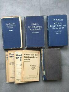 MUNK - Kohl-Briefmarken Handbuch, 4 banden en losse uitgaven
