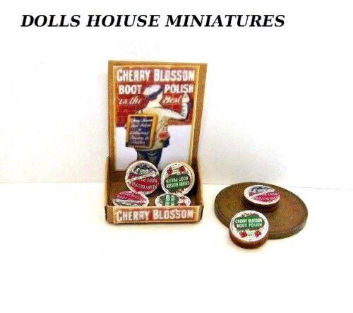Contador de estilo Vintage Tienda Pantalla Pomada Casa De Muñecas Miniaturas