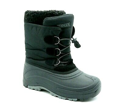 Black Winter Snow Boots Size 5 Youth