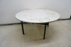 Cosco Commercial Round Folding 5ft Table Ebay