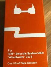 New Ibm Selectric System 2000 Wheelwriter 3 Amp 5 Lift Off Tape Cassette