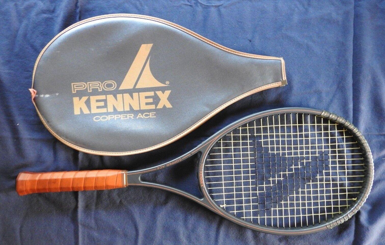 Pro Pro Pro Kennex   Rame Ace   Tennis Racchetta 11.7cm Impugnatura con Cover Molto c88