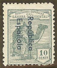 EDIFIL. SAHARA. Nº 37 Ahcc. NUEVO. CON FIJASELLOS. CAMBIO COLOR EN HABILITACIÓN