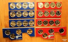 2007 - 2010  Presidential Dollar 32 Coin P&D US Mint Satin Set in Mint Packaging