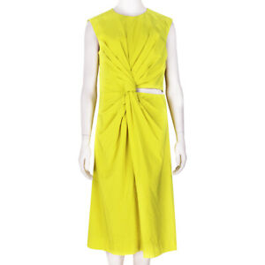 Jil-Sander-Vibrant-Yellow-Slim-Fitting-Adamantino-Knot-Dress-FR38-UK10