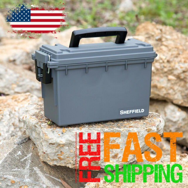 Large Ammo Crate Utility Ammunition Shotshell Box Can Container Military Storage