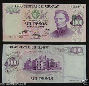P-52 1000 Pesos Uruguay 1974 UNC ND