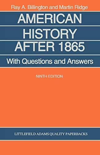 American History After 1865: With Questions and Answers.by Billington, A. New.#