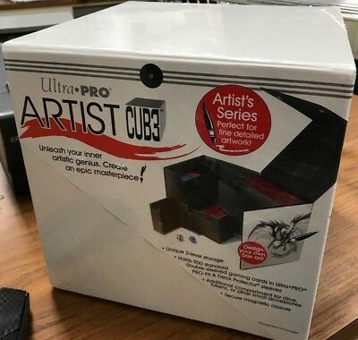 ULTRA PRO WHITE ARTIST SERIES CUBE JUMBO DECK BOX BRAND NEW AWESOME DEAL! CUB3