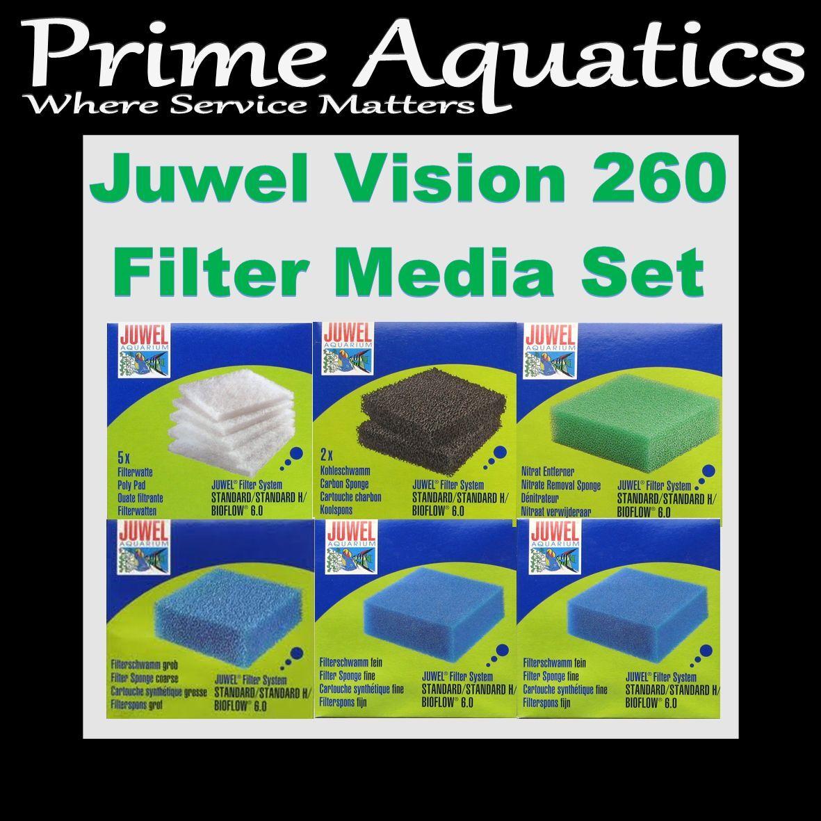JUWEL VISION 260 COMPLETO Autentico Filtro Media Media Media Set Nuovo in Scatola 60b427