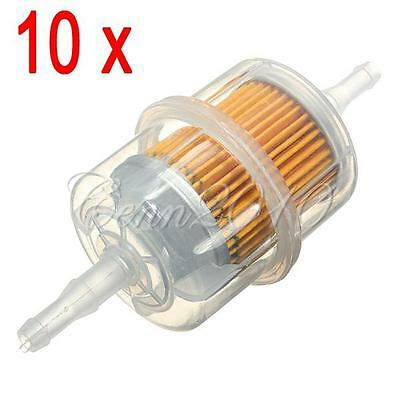 10pcs Universal Auto Car Large Inline In Line Fuel Filters Petrol 6mm 8mm Pipe
