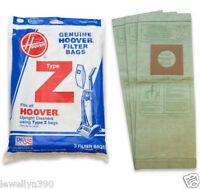 Genuine Hoover Vacuum Bag Type Z 4010075z 3 Pack