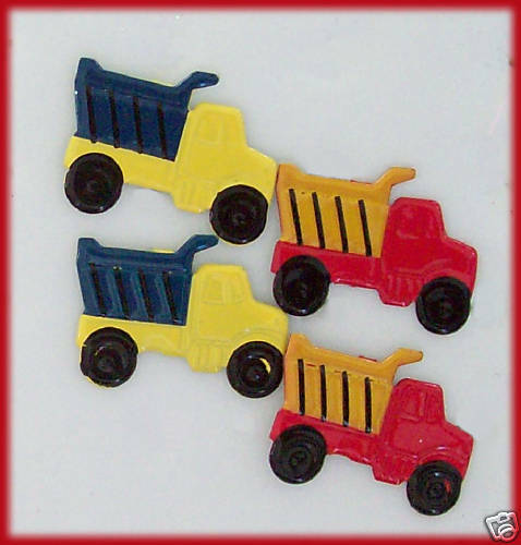 Scrapbooking Cards Pk of 16 Trucks with 2 colours NEW ~ 16 TRUCK BRADS