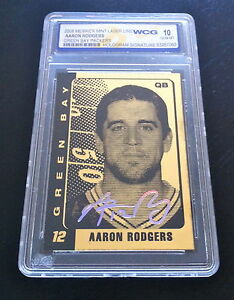 AARON-RODGERS-AUTOGRAPHED-GEMMT-10-LIMITED-EDITION-2008-23KT-GOLD-CARD-PACKERS