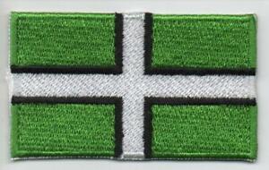 DEVON : EMBROIDERED FLAG PATCH  / BADGE - UK SELLER & FREE UK POSTAGE