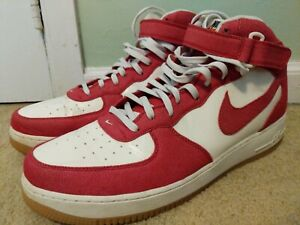 En consecuencia Más lejano odio  Nike Air Force 1 Mid '07 Men's Size 17 University Red Sail Gum 315123-607 |  eBay