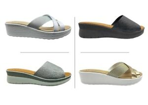 Ciabatte da donna Doctors Shoes pantofole estive da casa mare piscina aperte