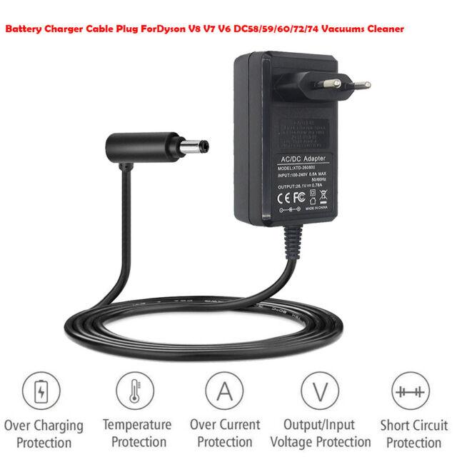 Battery Charger Cable US Plug For Dyson V8 V7 V6 DC58/59/60/72/74 Vacuum  Cleaner