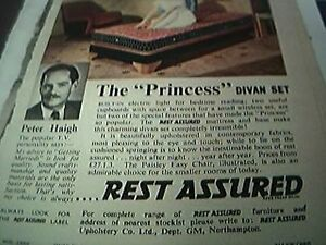 ephemera-1957-advert-peter-haigh-the-princess-divan-set
