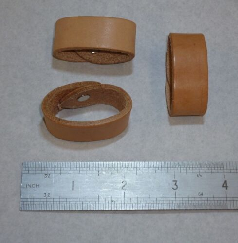 Veg Tan Belt Loops Real Leather Replacement Spare Keeper Handmade Fits 38mm belt