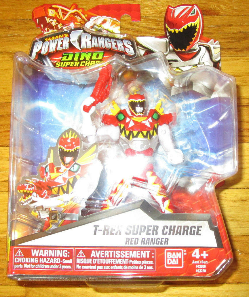 POWER RANGERS DINO SUPERCHARGE T-REX SUPER CHARGE rosso RANGER CARNIVAL MODE TYLER
