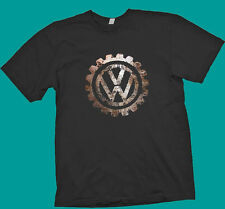 Rare VW Volkswagen unique vintage logo  Black t shirt  polo touareg