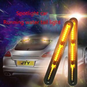 2x60-LED Car Truck DRL Light Bar Brake Flowing Turn Signal Stop Tail Strip Lamps