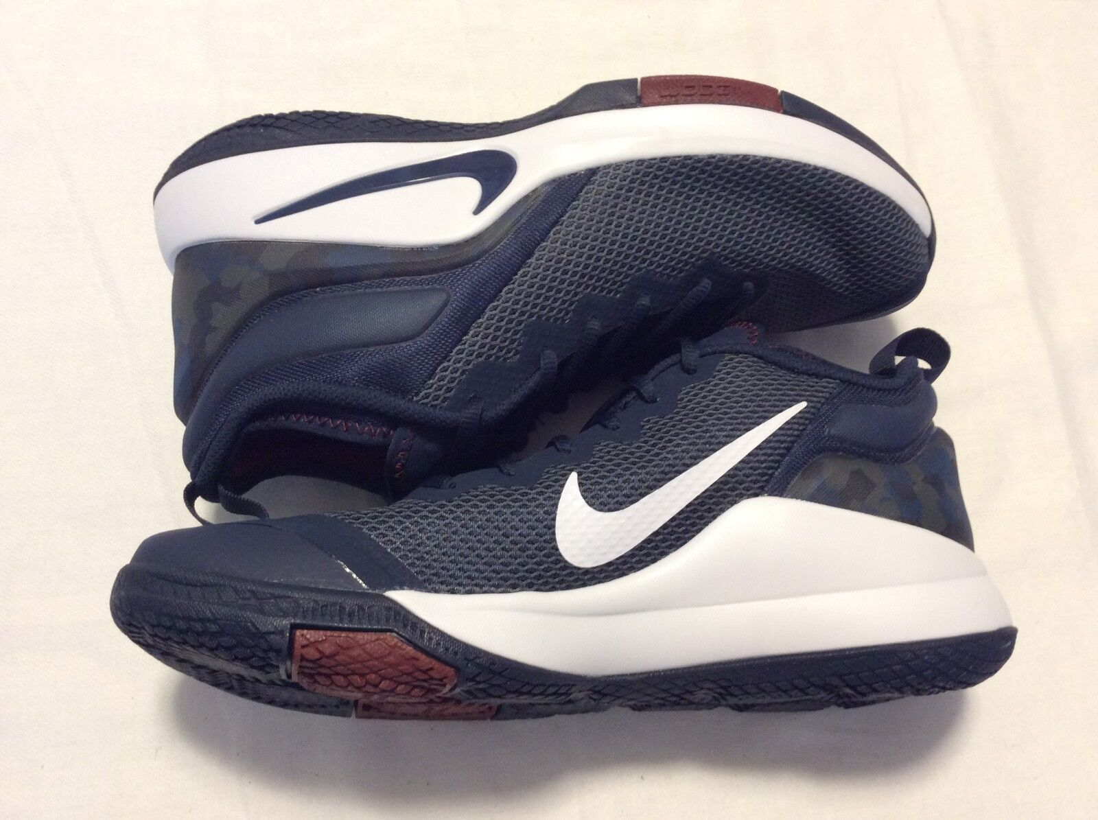 cabd461b641 Nike Lebron Witness II Men Basketball Shoes College Navy White ...