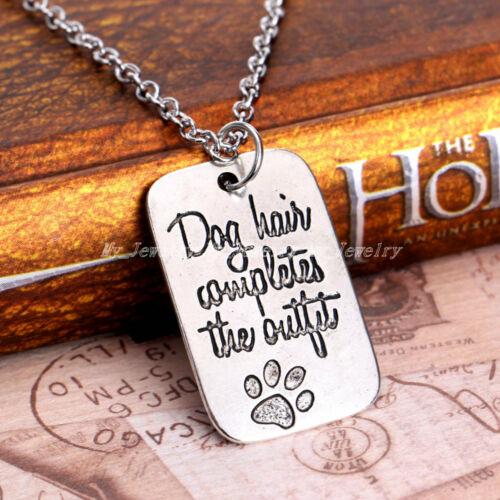 Pet Dog Paws Charm Pendant Chain Necklace Family Best Friends Gifts Christmas