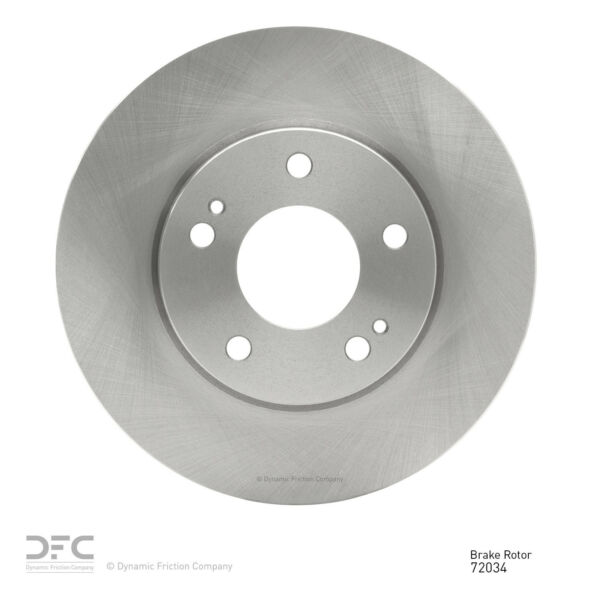 Front Dynamic Friction Company Disc Brake Rotor 600-72034 1