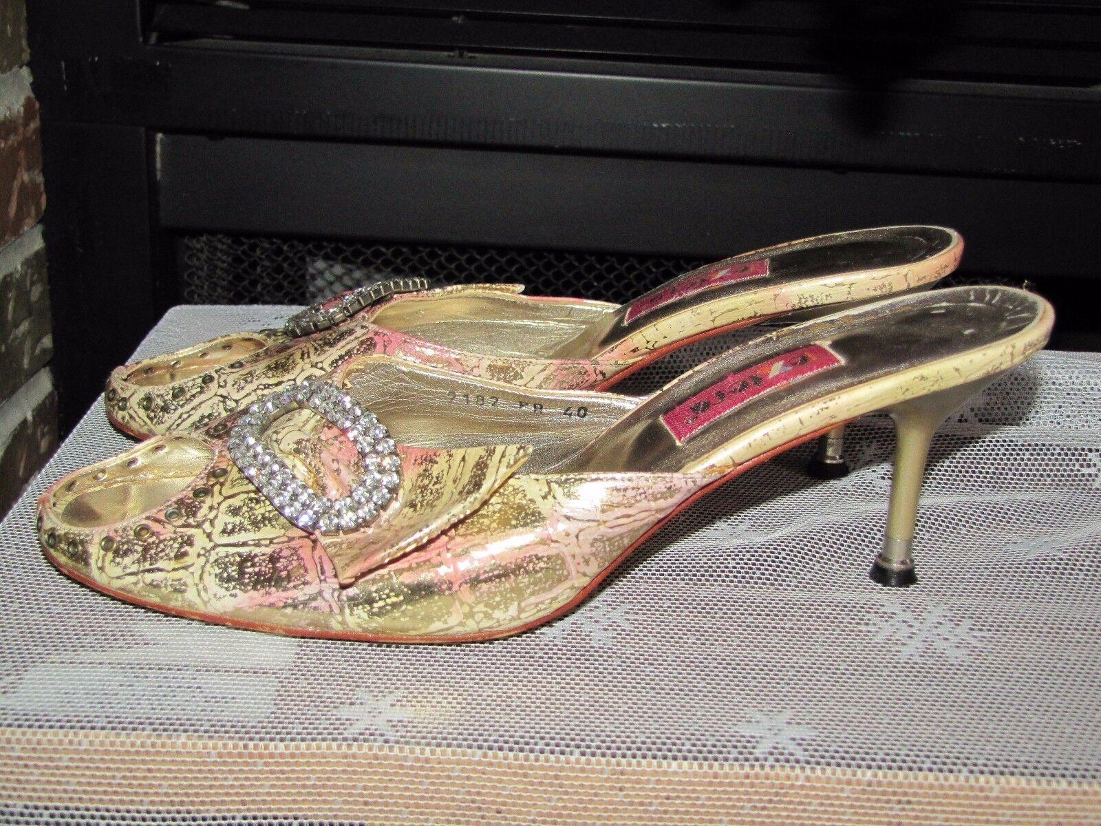 Woman heel slide sandals size 40 Us 9