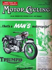 May 1 1958 TRIUMPH 'Thunderbird' Motor Cycle Rugby ADVERT - Magazine Cover Print